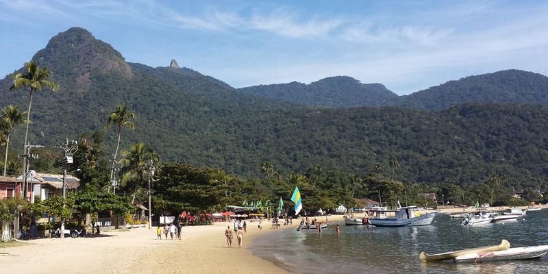 Zwei Angsthasen auf der Insel Ilha Grande