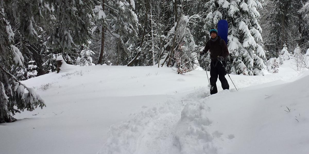Boarden und Schneeschuhwandern im Schwarzwald
