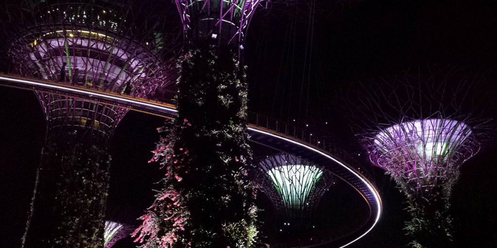 Lichtshow Gardens by the Bay